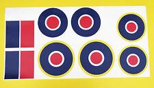 ferngesteuerte Flugzeuge Flugzeug RAF groß MAßSTAB RONDELLE sticker aufkleber