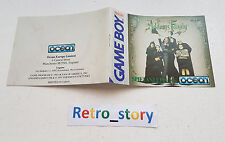 Nintendo Game Boy The Addams Family Notice / Instruction Manual