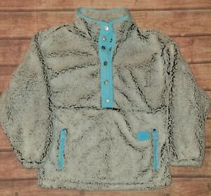 NWT Justice Girls Sherpa snap up Sweatshirt Size 12
