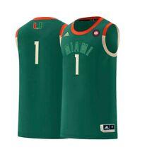 Miami Hurricanes NCAA Adidas Men's Green Harlem Reaissance #1 Swingman Jersey