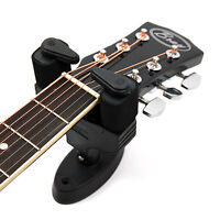Black Automatic Guitar Wall Mount For Acoustic Electric Bass Classical Guitars
