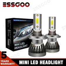 2X MINI H7 160W 18000LM LED Headlight Bulbs Kit 6000K White Xenon HID High Power