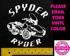 CAN-AM SPYDER  ST LTD SPYDER RYDER - WINDOW DECAL / STICKER  - 13 colors