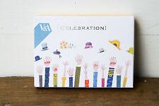 V&A Celebration Cards Envelopes Set 10 Silver Foiled Textured Blank Anniversary