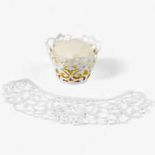 24 White Laser Cut Cupcake Wrappers Collars Party Cupcakes Cake Accessories
