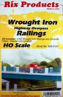HO Scale - 4 X 50'. Wrought Iron Highway Overpass Railings - RIX-628-0124