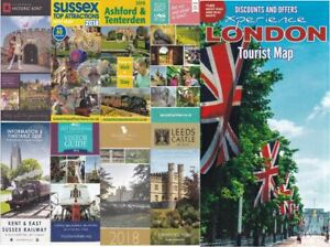 9 Falt Prospekte aus Großbritannien 2018 ( London , Sussex , Kent )