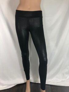 BCBG Maxazria Women's Pants Leggings Skinny Faux Leather Black High Rise Sz XXS