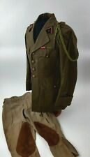 WW2 WWII French Army Engineers Captain Officer Tunic Pants Ribbons & Fourragere