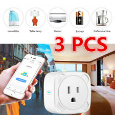 3 Pack Wifi Smart Plug Remote Control Outlet Socket Works with Alexa&Google Home