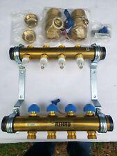 Rehau 281841-100 Pro Balance 1 1/4 Brass Manifold With 4 Stations