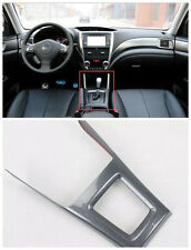 Carbon fiber Style Gear box panel decoration Trim For Subaru Forester 2009-2012