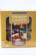 Yankee Candle FARMER'S MARKET Box of 12 Scented Tealights Tea Light Orange Fall