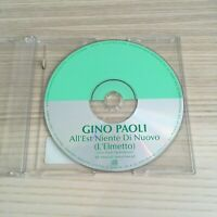 Gino Paoli - All'Est Niente di Nuovo - CD Single PROMO - 2002 Austria RARO!