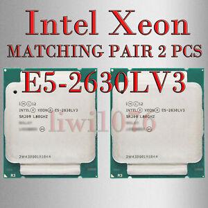 MATCHING PAIR 2 Pcs Intel Xeon E5-2630L V3 CPU 8 Core 16 Threads CPU Processor