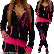 Damen Jogginganzug Jogging Hose Jacke Sportanzug SporthosFitness e Hoodie Pink