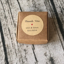 24x 4cm Kraft Paper Thank You Personalised Gift Stickers Wedding Favours Labels