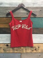 VDP CLUB EMBELLISHED TANK TOP SZ 40 (Italy) RED
