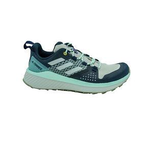 Adidas Women's Terrex Folgian Hiker Hiking Shoes Blue Gray Size 7.5