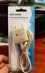 Dick smith 2m Standard Telephone  Cable - FAST POST (B5)
