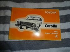 1976 Toyota Corolla owners manual original in good condition