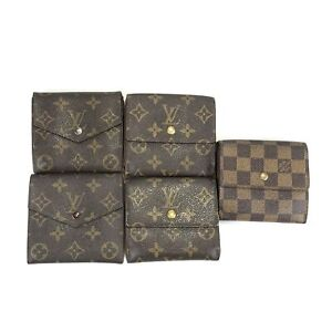 100% authentic Louis Vuitton Wallet 5 pieces set used 230-2-a