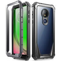 Poetic For Moto G7 Power Case,Clear Back Shockproof Protective Cover Black