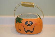 Lrg Eddie Walker Pumpkin Candy Bag Jack O'Lantern Bowl Holder Halloween Vintage