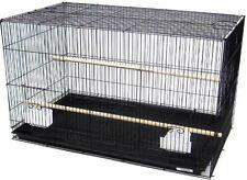 "Large Aviary Breeding Bird Finch Parakeet Finch Flight Cage 30""x18""x18&#034 ; Blk 357"
