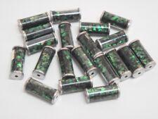 20 PCS GREEN GLASS TUBE BEADING BEADS  #T-132