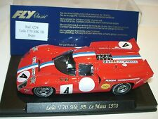 sqnt) FLY C34 LOLA T70 MK3B 24H. LE MANS 1970 - slot 1:32 scale