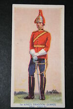 1st King's Dragoon Guards     Vintage 1930's Uniform Card   VGC