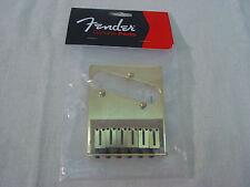 FENDER AMERICAN STANDARD TELE TELECASTER 6-SECTION GOLD-TONE BRIDGE ASSEMBLY