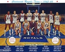 1965-66 CINCINNATI ROYALS 8X10 TEAM PHOTO OSCAR ROBERTSON JERRY LUCAS TWYMAN