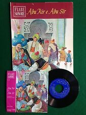 """ABU KIR E ABU SIR , FIABE SONORE + Disco 45"""" 1° Ed Fabbri (1966)"""