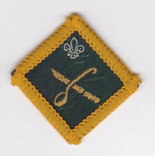 1967 UK BRITISH SCOUTS - DIAMOND SHAPE SCOUT INSTRUCTOR PROFICIENCY BADGE - COOK
