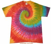 Purple Fractal Spiral All Sizes T Shirt Tie Dye hand crafted in the UK