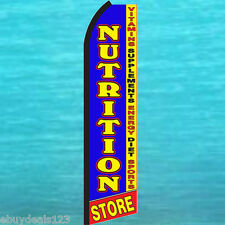 Nutrition Store Swooper Flag Tall Flutter Feather Advertising Sign Banner