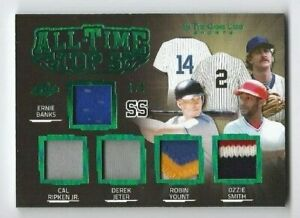 2020 ITG Used Sports JETER, SMITH, YOUNT BANKS, RIPKEN JR All-Time Top Patch /4