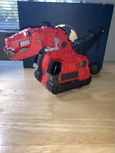 """Dinotrux Reptool Control Ty Rux 13"""" Red RC Wrecking Ball with Sound  No Remote"""