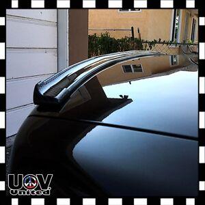 Universal Spoiler Carbon Fiber Rubber Rear Roof Trunk Molding Lip JDM Sport Wing