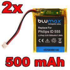 2x Batterie pour Philips ID 555 5551b 5552b 5-2762 5-2770 etc. | 40204 | 3,6 V/500 mah