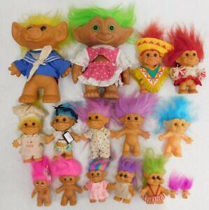 VNTG Troll Doll Lot Uneeda, Russ, Ace, etc