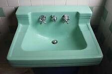 American Standard Bathroom Sink Ming Green vintage mid century Shelf Back