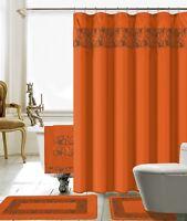 8Pcs Venezia Yellow High Quality Scarf shower Curtain set Bath Window Curtain