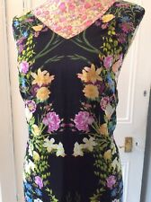 monsoon Black Floral Wiggle Anna dress size 12 vg Very Rare Holiday 11/9