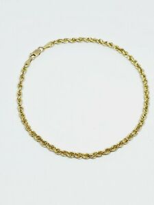 """Ma Michael Anthony 10k Yellow Gold Rope Chain Bracelet 8.25"""" (80)"""