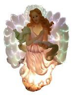"12.5"" Fiber Optic Christmas Angel With Book Bible Night Light H-1744"