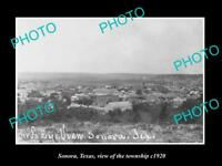 OLD LARGE HISTORIC PHOTO OF SONORA TEXAS, VIEW OF THE TOWNSHIP c1920