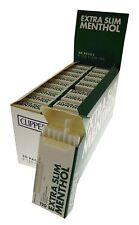 Full Box of 20 Packs Clipper Extra Slim Menthol Cigarette FIilter Tips Free P&P
